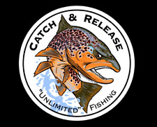 Brown Trout Catch & Release Decal Fly Fishing Sticker