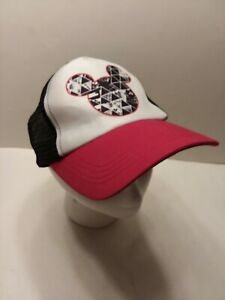 Vintage DISNEY Mickey Mouse Hat Adjustable Mesh Snapback Classic ABG Accessories
