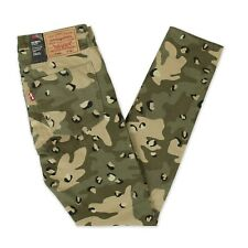 NEW Levis Premium Lo-Ball Stack Camouflage Distressed Jeans Mens Sz 36 (35 x 35)