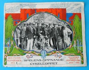 OLYMPIC GAMES STOCKHOLM 1912 * CYCLING * original old programme/review from 1912