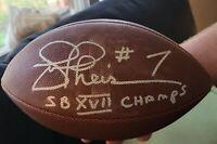 JOE THEISMANN SIGNED NFL FOOTBALL WASHINGTON REDSKINS SB CHAMPS W/COA+PROOF WOW