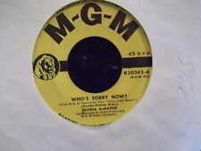 45* GLORIA DE HAVEN /GALE ROBBINS MGM YELLOW LABEL WHOS SORRY NOW / ALL ALONE