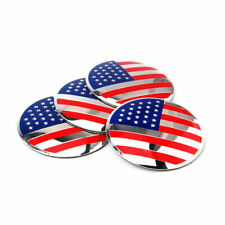 4X 56mm Auto Wheel Center Hub Caps United States USA Emblem Badge Decal Sticker