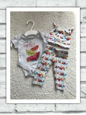 Baby Girls Clothes Newborn - Cute Outfit  - Vest  Top , Hat & Leggings
