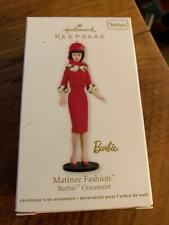 Hallmark Keepsake Ornament Matinee Fashion Barbie Red Suit Series 19th #19