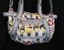 Harajuku Lovers Purse Handbag Pink Grey Cross body Adjustable Lovers Medium
