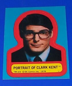 1978 Topps Superman The Movie Sticker Portrait Of Clark Kent