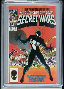 Secret Wars #8 CGC 9.6 White Pages 1st Black Costume