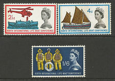 1963 Lifeboat phosphor set unmounted mint cat val £48