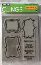 "Hero Arts Clings ""Frame A Message"" Rubber Stamp Set *New"