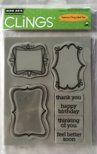 """Hero Arts Clings """"Frame A Message"""" Rubber Stamp Set *New"""