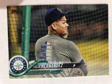 2018 Topps Series 2 Photo Variation SP Shortprint Felix Hernandez #567 Mariners