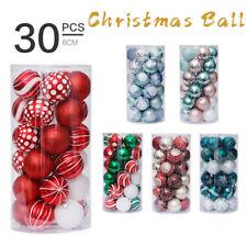 30PCS 6cm Mixed Christmas Balls Baubles Xmas Tree Ornament Christmas Home Decor