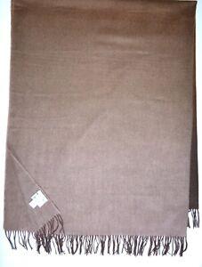 Paul Smith Mainline Brown Degrade Stripe Scarf Blanket Wool/Cashmere Brand New