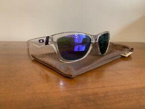 Oakley Jupiter - Polished Clear / Violet Iridium - Frogskins Purple Vintage
