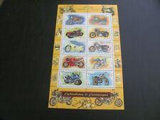 FRANCE 2002 MOTORCYCLES SOUVENIR SHEET MNH FV 2.30 EURO