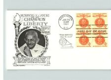 MAHATMA GANDHI, India Leader, Champion of Liberty, BL/4 First Day of Issue