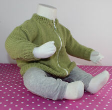 PAPER PRINTED KNITTING INSTRUCTIONS-BABY SIMPLE BOMBER JACKET KNITTING PATTERN