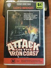ATTACK ON THE IRON COAST - LLOYD BRIDGES & ANDREW KEIR - VHS