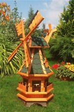 Gartenwindmühle mit grünen Schindeln– Höhe 1 Meter