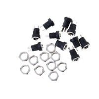 10Pcs DC-022B Power Supply Jack Socket Female Panel Mount Connector 5.5*2.1mm LJ