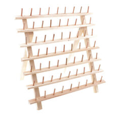 63-Spool Sewing & Embroidery Mini Cones Holder Thread Rack Stand Wood