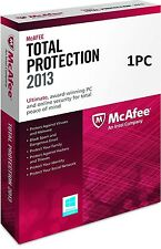 McAfee Total Protection 1 PC 2013 - NEW - FREE SHIPPING ™