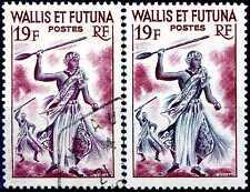 """WALLIS et FUTUNA N° 158B Oblitéré Variété """"NOIR ABSENT"""""""