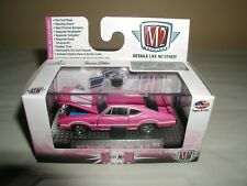 M2 MACHINES detroit-muscle pink 1970 olds cutlass 442 w-30,r31 NEW