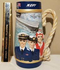 """Large 12"""" United States Navy 3D Graphic Ceramic Mug Vase Decor USA  Military"""