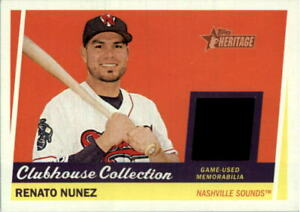 2016 Topps Heritage Minors Clubhouse Collection Relics #CCRRN Renato Nunez