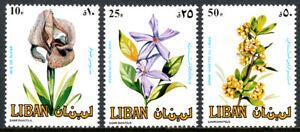 Libano 482-484, Mnh. Fiori, 1984