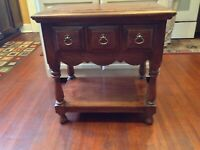 Authentic Antique Side Table C.B. Atkin Company Knoxville Tenn Early 1900's