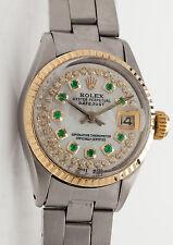 Estate $7000 18k Yellow Gold SS Genuine ROLEX OYSTER Ladies DATEJUST Watch & BOX