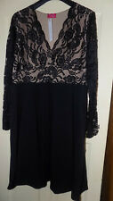 yours gemma collins black evening dress size 26