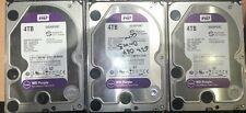 """4TB WD 3.5"""" SATA 6Gb/s Purple SV HDD PN WD40PURZ Surveillance Hard Drive's"""