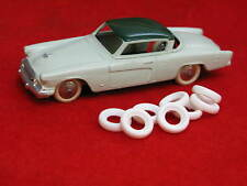 Small Smooth Tires for French Dinky Toys, white, 15mm, Lot of 8