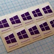 10 x Windows 10 autocollant, sticker, étiquette pour ordinateur portable purple