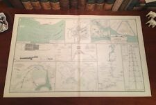 Original Antique Civil War Map NORTH CAROLINA Blockade VIRGINIA Defenses