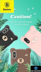 iPhone XS Max/XR Case Bear Style Soft Silicon Thin Cover For iPhone *Baseus*