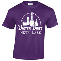 WALTER WHITE METH LABS MENS T SHIRT BREAKING INSPIRED HEISENBERG TEE