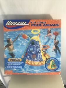 New Banzai 4 in One Pool Game Basketball Football Ring Toss Inflatable Toy