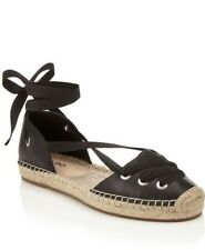 9c71fee86 Aldo Emee Espadrilles Ankle Tie Black Womens Girls Size 7