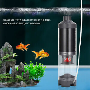 Aquarium Automatic Cleaning Fish Excrement Collector Filter with Air Oxygen Pump