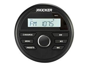 KICKER 46KMC2, KMC2 WEATHER-RESISTANT GAUGE-STYLE MEDIA W/ BLUETOOTH - OPEN BOX