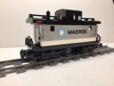 LEGO Maersk Custom Caboose for #10219 Maersk Train. Nice, new parts!
