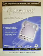 Hawking Technology Usb 10/100M Internet Print Server Hps1U - New in Box