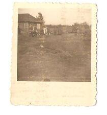 Altes Foto Bild Deutsches Reich 2. Weltkrieg Soldaten vor Hütte [186]