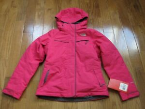 NWT The North Face Womens Inlux Insulated Jacket Coat Passion Pink XS