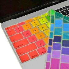 "Rainbow  Silicone Keyboard Cover Skin for Macbook 12"" with Retina Model A15"